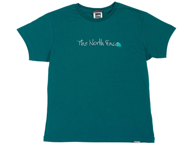 The North Face Embroidered Logo Shortsleeve Shirt Women green/blue